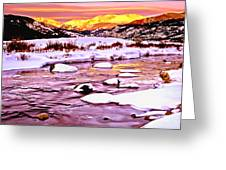 Sunrise On A Cold Day Greeting Card