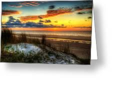 Sunrise On A Jekyll Island Dune Greeting Card