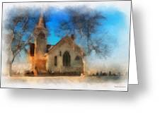 Sunrise On A Rural Church 04 Greeting Card