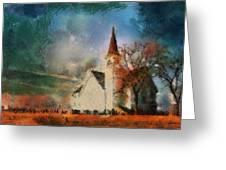 Sunrise On A Rural Church 18 Greeting Card