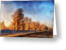 Sunrise On A Rural Country Road Photo Art 02 Greeting Card