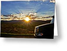 Sunrise On A Traffic Jam Greeting Card
