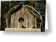Sunrise On Birdhouse Homestead Greeting Card