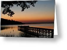 Sunrise On Bogue Sound Greeting Card by Cari Gesch