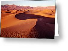 2a6856-sunrise On Death Valley Greeting Card