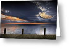 Sunrise On Key Islamorada In The Florida Keys Greeting Card