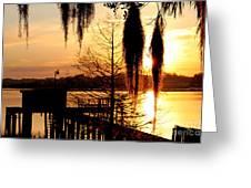 Sunrise On Lake Weir - 7 Greeting Card