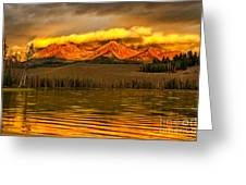 Sunrise On Little Redfish Lake Greeting Card