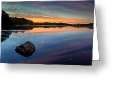 Sunrise On Little River Greeting Card