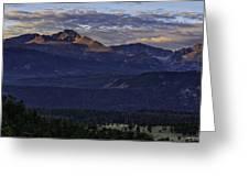 Sunrise On Longs Greeting Card by Tom Wilbert