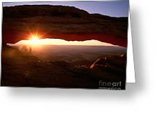 Sunrise On Mesa Arch Greeting Card