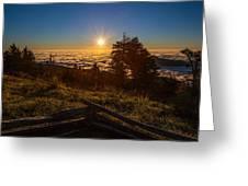 Sunrise On Mount Mitchell Greeting Card