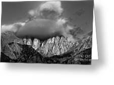 Sunrise On Mount Whitney Eastern Sierras California Greeting Card