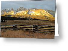 Sunrise On Sawtooth Mountains Idaho Greeting Card
