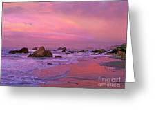Sunrise On Sea Stacks Harris Sb Oregon Greeting Card