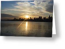 Sunrise On The Big Apple Greeting Card