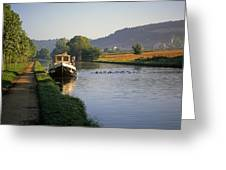 Sunrise On The Burgundy Canal Greeting Card
