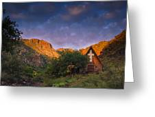 Sunrise On The Chapel Greeting Card by Aaron Bedell