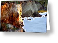 Sunrise On The Cliff Greeting Card