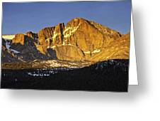 Sunrise On The Diamond Greeting Card by Tom Wilbert