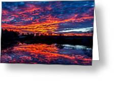 Sunrise On The Fishing Hole Greeting Card