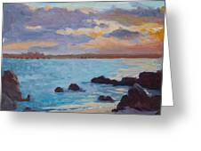 Sunrise On The Grotto Greeting Card