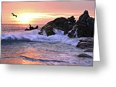 Sunrise On The Horizon Greeting Card