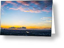 Sunrise On The Horizon Greeting Card