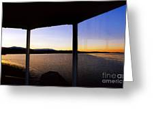 Sunrise On The Hudson Greeting Card