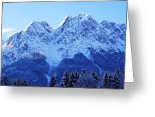 Sunrise On The Alps Greeting Card