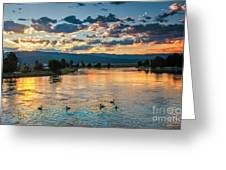 Sunrise On The North Payette River Greeting Card