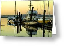 Sunrise On The Petaluma River Greeting Card
