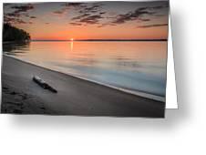 Sunrise On The Potomac Greeting Card