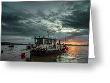Sunrise On The River Taw Greeting Card