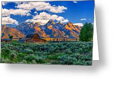Sunrise On The Tetons Limited Edition Greeting Card