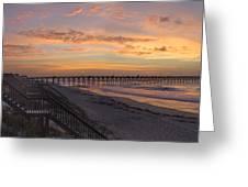 Sunrise On Topsail Island Panoramic Greeting Card