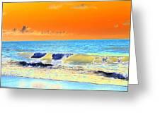 Sunrise On Tybee Island - Photopower 168 Greeting Card
