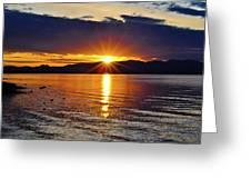 Sunrise On Yellowstone Lake Greeting Card