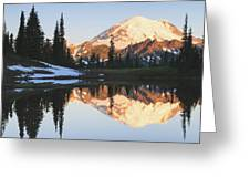 Sunrise Over A Small Reflecting Pond Greeting Card