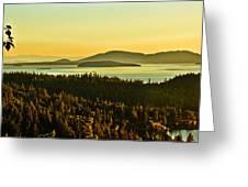 Sunrise Over Bellingham Bay Greeting Card