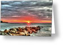 Sunrise Over Breech Inlet On Sullivan's Island Sc Greeting Card