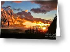 Sunrise Over Countryside Greeting Card
