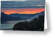 Sunrise Over Crown Point Greeting Card