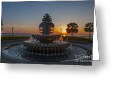Sunrise Over Downtown Charleston  Greeting Card