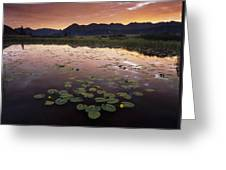 Sunrise Over Granadier Range Molas Pass Greeting Card