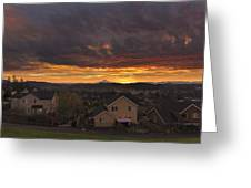 Sunrise Over Happy Valley Greeting Card