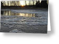 Sunrise Over Ice Greeting Card