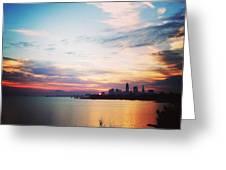 Sunrise Over Lake Erie Cleveland Greeting Card