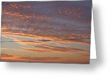 Sunrise Over Lake Manistee Greeting Card