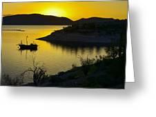 Sunrise Over Lake Pleasant Greeting Card